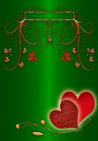 Green abstract valentines day Royalty Free Stock Photo