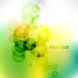 Green Abstract vector background. Abstract background with the green bubbles royalty free illustration