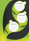 Green abstract vector background for brochure Royalty Free Stock Images