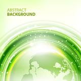 Green abstract vector background with Earth Royalty Free Stock Images