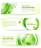 Green abstract vector background with Earth Royalty Free Stock Photos