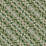 Green abstract vector background with ornament oriented in diagonal strip, textile design, suitable for drapery Stock Photo