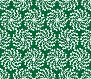 Green abstract vector background with white grunge grabbed circle star shapes, seamless background Royalty Free Stock Image