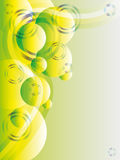 Green abstract vector with glitters and copyspace Royalty Free Stock Photos