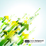 Green Abstract Vector Pointer Background Stock Image
