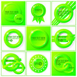 Green abstract vector set of backgrounds for your Royalty Free Stock Photos