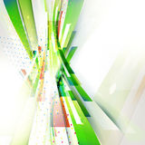 Green abstract vertical wave geometric background for technology presentation Royalty Free Stock Images