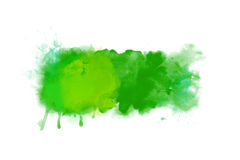 Green abstract watercolor artwork background banner Stock Photography