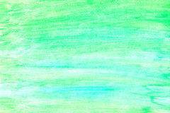 Green abstract watercolor gradient background.  vector illustration