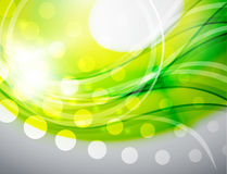 Green abstract wave background Royalty Free Stock Photography