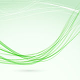 Green abstract wave lines modern flyer Stock Photography
