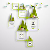 Green abstract web design Royalty Free Stock Photo
