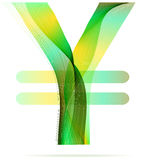 Green abstract Yen sign Royalty Free Stock Photos