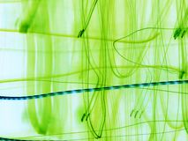 Green abstraction. With blue line Stock Image