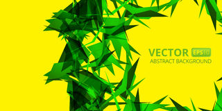 Green abstraction on yellow Stock Image