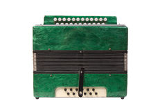 Green Accordion Royalty Free Stock Images
