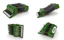 Green accordion Royalty Free Stock Photo