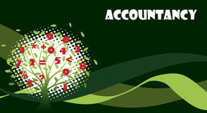 Green accountancy illustration Royalty Free Stock Photo