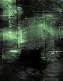 Green acetate. Scratched grunge layer in green Stock Image