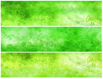 Green Acid Grunge Banners or Headers Royalty Free Stock Photography