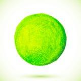 Green acrylic paint circle Royalty Free Stock Image
