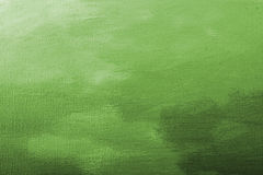 Green acrylic paint texture Stock Images