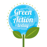 Green action logo. This is green action logo design.  file Royalty Free Stock Photography