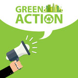 Green action sign Royalty Free Stock Images