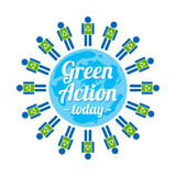 Green action sign. This is green action sign design.  file Royalty Free Stock Photos