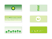 Green Ad background Stickers Royalty Free Stock Photography