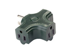 Green Adapter Royalty Free Stock Image