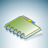 Green Address Book Stock Images