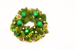 Green advent wreath Stock Photography
