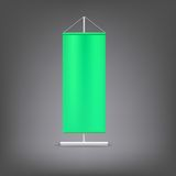 Green advertising stand. Blank vector illustration Stock Image