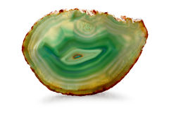 Green Agate - clipping path Stock Images