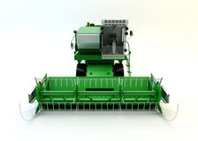 Green agricultural combine-harvester Stock Photography