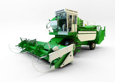 Green agricultural combine-harvester Royalty Free Stock Photo