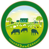 Green Agriculture badge stock illustration