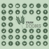Green agriculture icons Stock Images