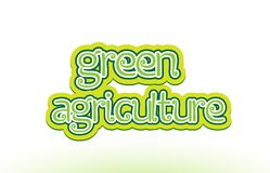 green agriculture word text logo icon typography design Stock Photo