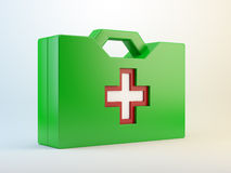 Green aid kit Royalty Free Stock Photos