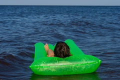 Green airbed Stock Images
