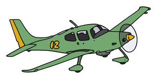 Green airplane Royalty Free Stock Images