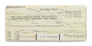 Green Airplane Ticket royalty free stock images