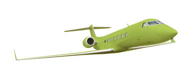 Green airplane on white with clipping path Stock Photography