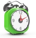 Green alarm clock Royalty Free Stock Photography
