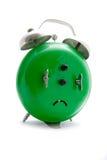 Green alarm clock stock image