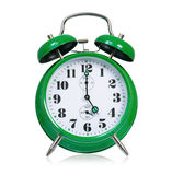 Green alarm clock Stock Images