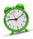 Green alarm clock Royalty Free Stock Images