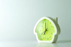 Green alarm clock Stock Photos